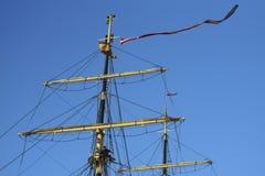 Wysoki statek Dani przy portem Cadiz Hiszpania Obrazy Royalty Free