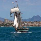 Wysoki statek Folujący żagla Dwa Omasztowywający skuner Zdjęcie Stock