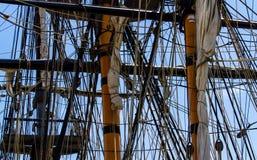 Wysoki statek Riging Zdjęcia Stock