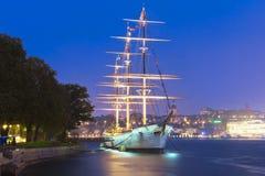 Wysoki statek w Sztokholm '' AF Chapman '', Szwecja Obrazy Stock