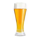Wysoki szkło lekki piwo Obrazy Royalty Free