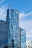 Wysoki szklany budynku drapacz chmur Fotografia Royalty Free