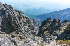 Wysoki Tatras, sceneria od Lomnicky stit Zdjęcie Stock