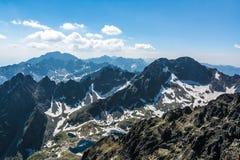 Wysoki Tatras, sceneria od Lomnicky stit Zdjęcie Royalty Free