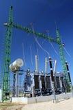 wysoki transformatorowy napięcia zdjęcia stock