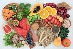 Wysoki włókien zdrowie jedzenie obrazy royalty free