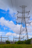 Wysoki woltaż elektryczności pilon Zdjęcie Royalty Free