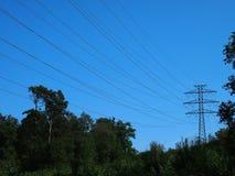 Wysoki woltaż elektryczności pilon Obrazy Royalty Free