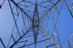 Wysoki woltaż elektryczności wierza Fotografia Stock