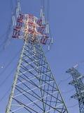 Wysoki woltaży pilonów widok od above Obraz Stock
