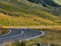 Wysoki wysokogórski drogowy widok Zdjęcie Stock