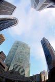 Wysoki wzrost buduje Singapore Obraz Royalty Free