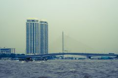 Wysoki wzrosta budynek, Bangkok, Tajlandia zdjęcia stock