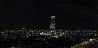 Wysoki wzrosta budynek biurowy w Osaka dzielnicie biznesu Fotografia Royalty Free