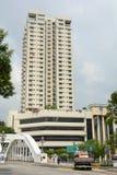 Wysoki wzrosta budynek w centrum Singapur Zdjęcie Royalty Free