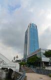 Wysoki wzrosta budynek w centrum Singapur Zdjęcia Royalty Free