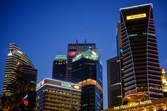 Wysoki wzrosta budynek w Singapur Zdjęcia Royalty Free