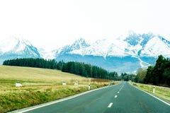wysokich gór panoramy drogi tatra Fotografia Royalty Free