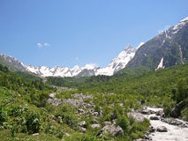 wysokie góry rzeczne Zdjęcia Stock