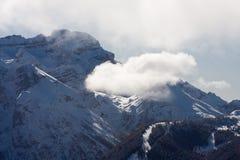 wysokie góry snow pod zima Obrazy Stock