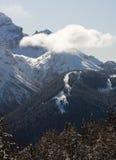 wysokie góry snow pod zima Zdjęcie Stock