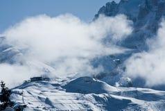 wysokie góry snow pod zima Fotografia Royalty Free