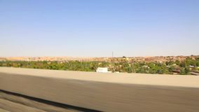 Wysokie Grobelne Aswan ulicy przy Egipt wideo HD zbiory