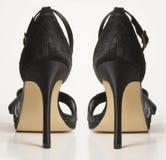 wysokie piętowi parę sandałów Zdjęcie Stock