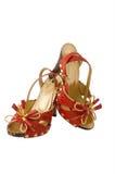wysokie piętowi czerwone buty. Zdjęcia Royalty Free