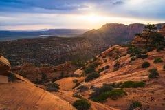 Wysokie pustyni warstwy Zdjęcia Stock