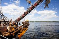 WYSOKIE statek rasy KOTKA 2017 Kotka, Finlandia 16 07 2017 Wysyła Shtandart w porcie Kotka, Finlandia Zdjęcie Royalty Free