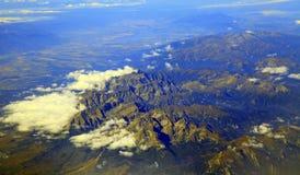 Wysokie Tatras góry od samolotu, Sistani obrazy stock
