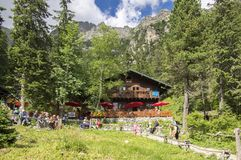 Wysokie Tatrzańskie góry Sistani, Lipiec/- 6, 2017 fotografia royalty free