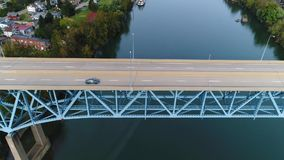 Wysokiego kąta profilu widok z lotu ptaka Brownsvilles Rt 40 Targowej ulicy most zdjęcie wideo