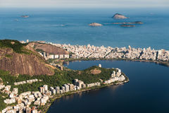 Wysokiego kąta widok Rio De Janeiro południe strefa zdjęcie royalty free