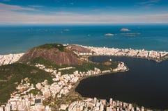 Wysokiego kąta widok Rio De Janeiro południe strefa fotografia royalty free
