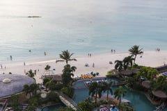 Wysokiego kąta widok tumon zatoki plaża, Guam zdjęcie royalty free