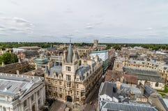 Wysokiego kąta widok Cambridge Zdjęcie Stock