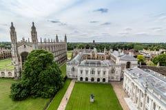 Wysokiego kąta widok Cambridge Obrazy Stock