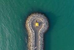 Wysokiego kąta widok latarnia morska Zdjęcie Royalty Free