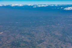 Wysokiego kąta widok rolniczy tereny Zdjęcie Royalty Free
