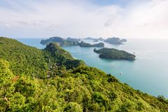 Wysokiego kąta widoku Mu Ko Ang pasek Zdjęcie Stock