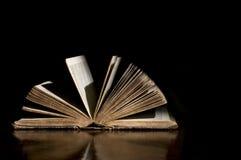 Otwiera Antykwarską biblię Fotografia Stock