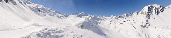 wysokiego krajobrazowego martello val zima Fotografia Stock