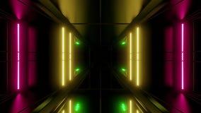 Wysokiego odbijającego scifi tła vjloop 3d tunelowy tapetowy rendering ilustracji