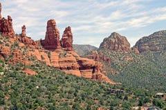 wysokiego południe czerwieni skały Fotografia Royalty Free