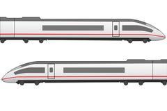 Wysokiego prędkości trainset boczny widok Fotografia Stock