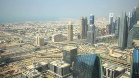 Wysokiego ruchu drogowego 4k czasu drogowy upływ od Dubai zbiory wideo