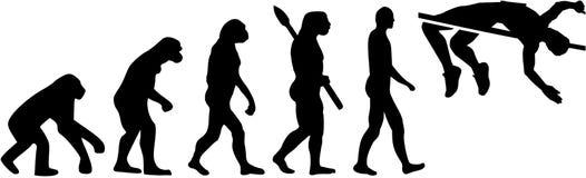 Wysokiego skoku ewolucja ilustracja wektor