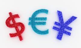 Wysokiego szczegółu Kolorowe waluty Podpisują wewnątrz Słodkich cukierki Zdjęcie Stock